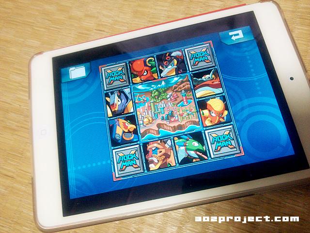 「iPad mini」で「ロックマンX」 ステージ選択